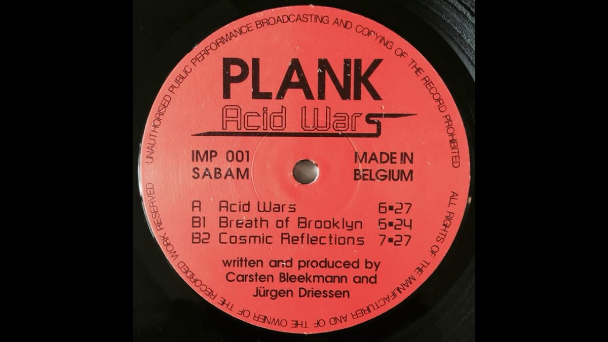 Plank – Acid Wars Record Label