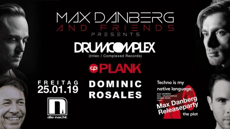 Max Danbergs Release-Party am 25. 1. 2019 im Club Die Nacht, Mönchengladbach