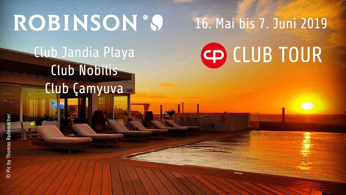 Robinson Club Tour von DJ Carsten Plank im Mai bis Juni 2019