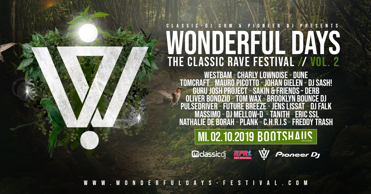 Wonderful Days – The classic Rave am 2.10.2019, Visual