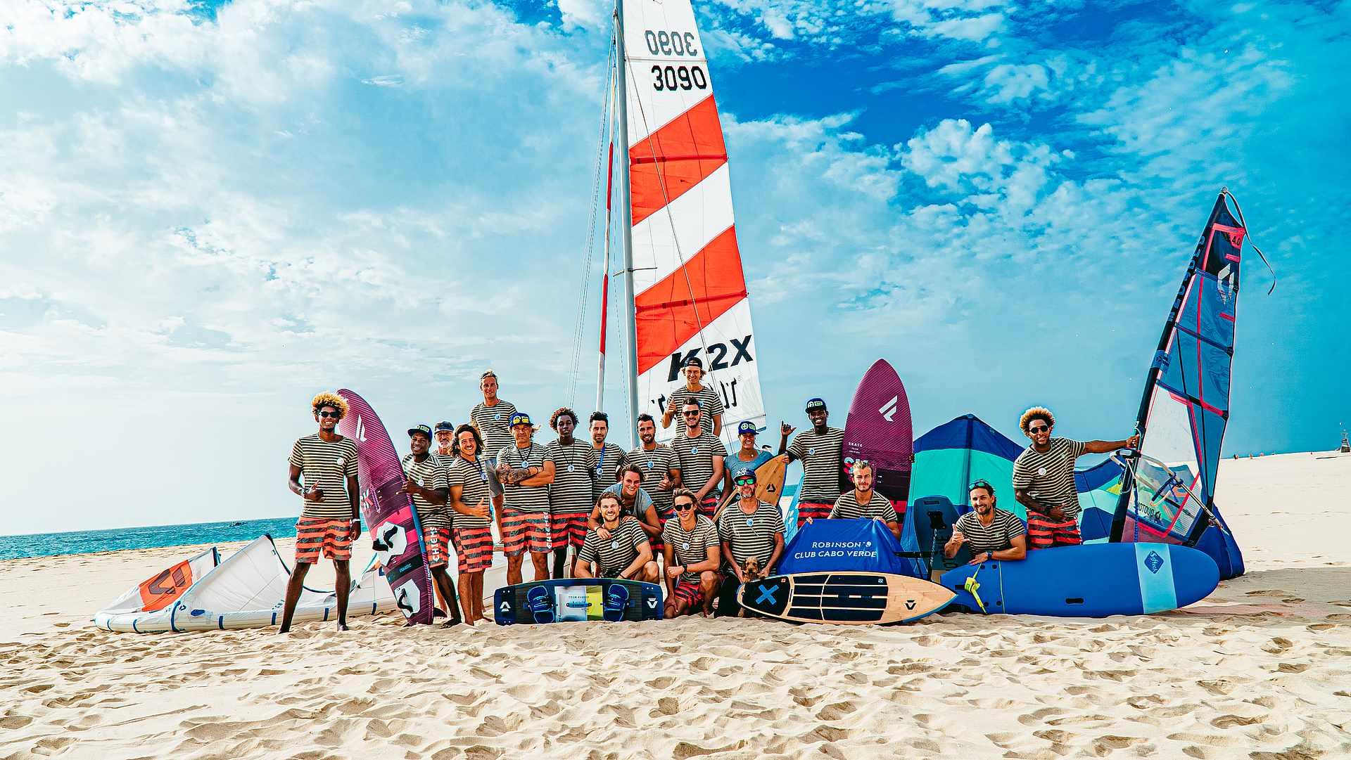 Wassersport-Team des Robinson Club Cabo Verde